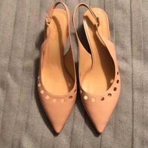 Kate spade cream colored kitten heels.